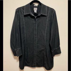 Chico's Button Down Tunic - Size 2